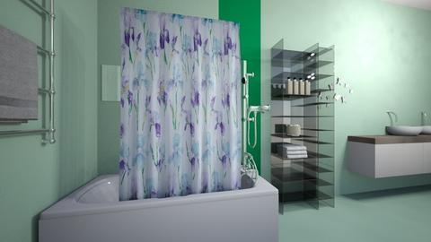 Kalishas GuestBath4 - Glamour - Bathroom  - by lulu2x