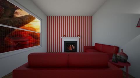 Colours Contest red - Living room  - by theIrishdog