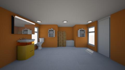 Orange and White Bathroom - by DamonM