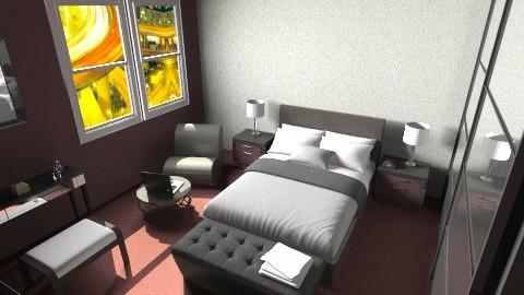 bordeaux sleeping - Bedroom - by Strandreas