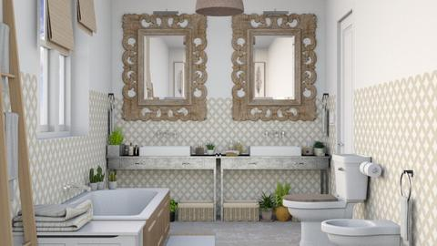 Natural - Bathroom  - by Charipis home