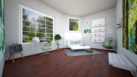green - Bedroom - by areejkwaik