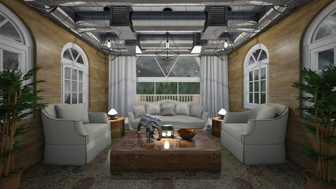 RusticxModern Apartment - Living room  - by dogsrmylife