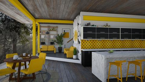 Pops of Yellow - Modern - Kitchen  - by Nicky West