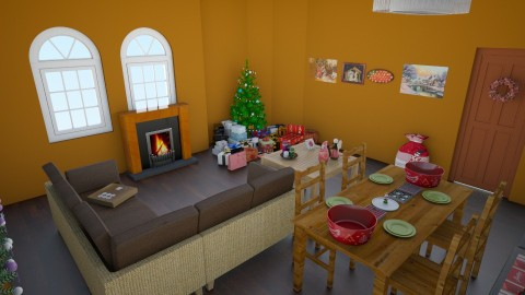 christmas living room - Country - Living room  - by gift123
