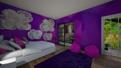 Pink and Purple - Bedroom  - by house17