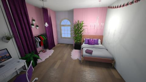 pink and purple bedroom - by Niall chOnce
