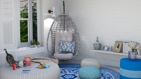 Blue Teen Room - Bedroom  - by Jahsoftball_