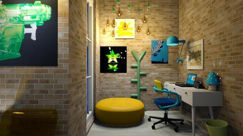 BlueYellowGreen office - Modern - Office  - by deleted_1609868595_bleeding star