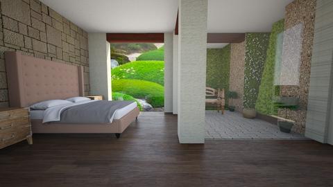 garden view bedroom - Bedroom - by Moonpearl
