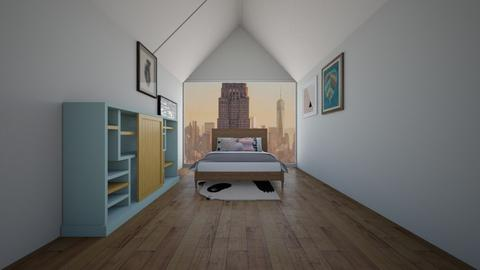 Attic Room - Bedroom  - by Drachenmaedchen