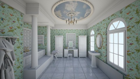 Romantic bathroom - Vintage - Bathroom  - by nata_falcon