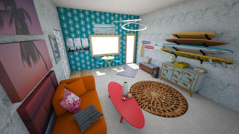 Surfer Hallway - Retro - Living room  - by KajsaRain