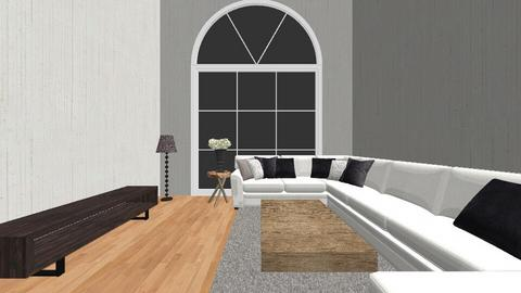 Mid White Century - Living room - by snwildrose