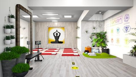 Home Yoga Sanctuary - Office  - by matina1976