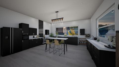 Black  - Kitchen - by mariagirtavic