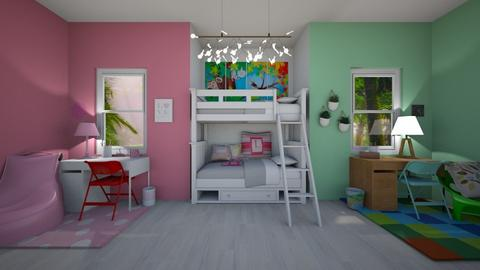 bunk bed  room - Kids room  - by gumball13