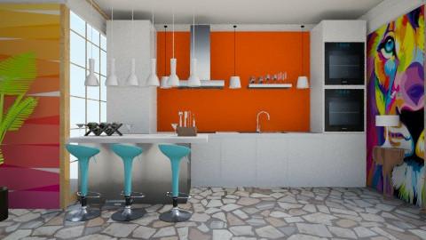 Kitchen 1 - Kitchen - by Habib Altamimi