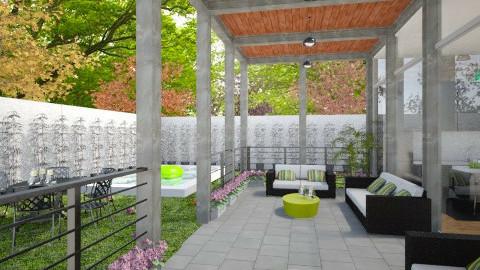 modern porch - Garden - by CHARLOTTE06