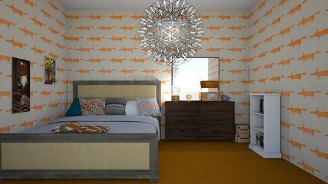 Orange - Vintage - Bedroom  - by strongsteadfast