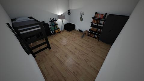 czarny pokuj nastolatki - Bedroom - by Viki20