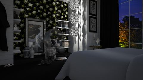 chandelier - Glamour - Bedroom  - by donella