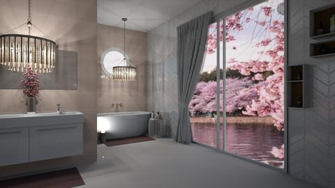 Cherry Blossom Bathroom - Bathroom  - by myz_design