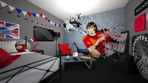 sports fan bedroom - Bedroom  - by guacamolestyle