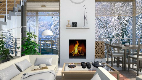 Ready for winter - Modern - Living room  - by Leyvna
