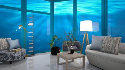 Living in the ocean - Living room  - by Meghan White