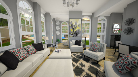 Living Area  - Classic - Living room  - by sissybee