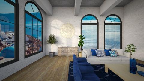 Greek Living - Living room  - by Flaflaf