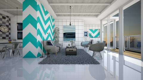 b and w - Modern - Living room  - by Evangeline_The_Unicorn