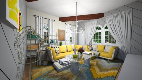Yellow Living Room - Modern - Living room  - by LivStyles09