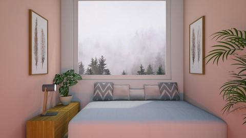 pink blush bedroom - Bedroom  - by tigeriffic