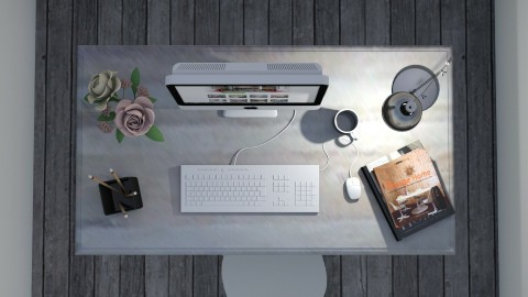 Birds View Desk - Office  - by TaeBlossom