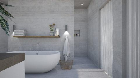 concrete bathroom - Bathroom - by StienAerts