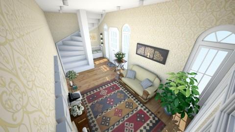 Hallway and staircase - Rustic - by mmt_regina_nox