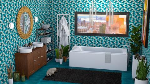 turquoise story - Modern - Bathroom - by rimanina