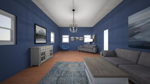living room blue  - Living room - by bking012