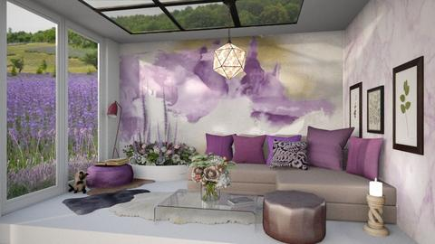 Lavender inspired - Vintage - Living room  - by ZsuzsannaCs