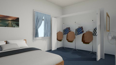 Simple classic guy room - Classic - Bedroom - by Yendii