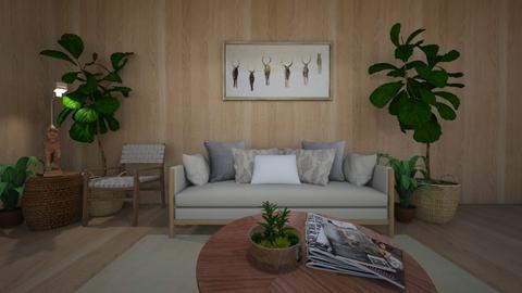 Wood Living Room - Living room  - by laurendesigns20