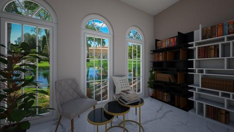Luxury book nook - Living room  - by Meghan White
