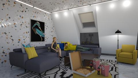 Movie night - Living room  - by snjeskasmjeska