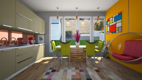 Modern Playful Kitchen - Kitchen - by lovedae_parfait