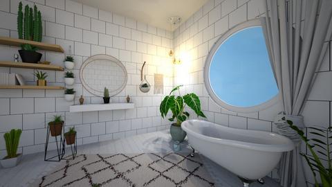 boho bathroom - Bathroom - by luckyducky102