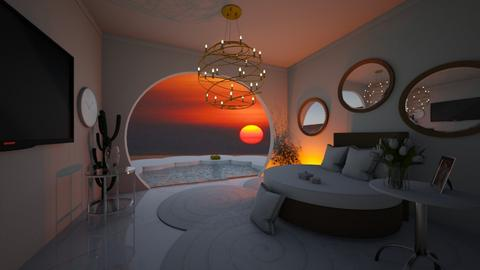 sunset - Vintage - Bedroom  - by vallequeen