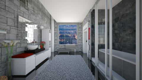 A Bit of Contrast - Modern - Bathroom  - by thefairysknight