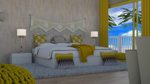 Tropical bedroom 21st room - Bedroom  - by shoalehnia